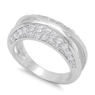 Journey Designer Infinity Cubic Zirconia Ring Sterling Silver 925
