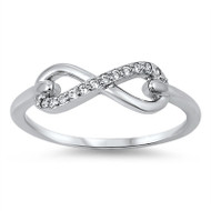 Infinity Cubic Zirconia Ring Sterling Silver 925