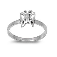Butterfly Effect Solitaire Ring Sterling Silver 925