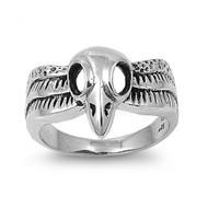 Phoenix Skull Ring Sterling Silver 925