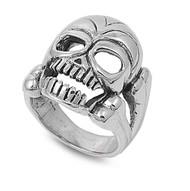 Skull of Destruction Ring Sterling Silver 925