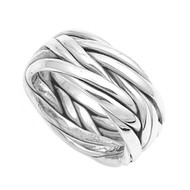 Abstract Fashion Ring Sterling Silver 925