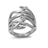Designer Style Fashion Ring Sterling Silver 925
