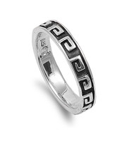 Tribal Polynesian Ring Sterling Silver 925