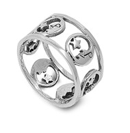 Star and Crescent Faith Ring Sterling Silver 925