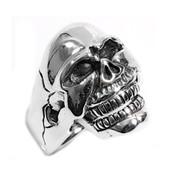 Evil Dead Skull Ring Sterling Silver 925