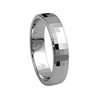 Paragon Cut Wedding Band Ring Rhodium Plated Sterling Silver 925