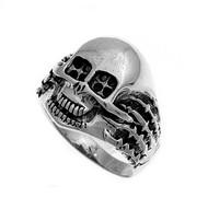 Fire Skull Ring Sterling Silver 925
