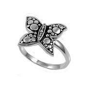 Bubble Butterfly Ring Sterling Silver 925