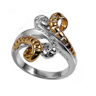 Twod Shedding Snake Ring Sterling Silver 925