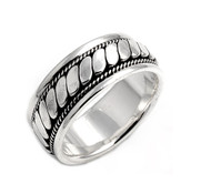 Braided Row Ring Sterling Silver 925