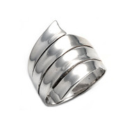 Coil Designer Style Ring Sterling Silver 925