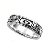 Claddagh Band Ring Sterling Silver 925