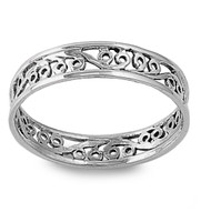 Eternity Filigree Band Ring Sterling Silver 925