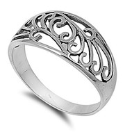 Antique Filigree Ring Sterling Silver 925