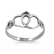 Togetherness Eternal Heart Ring Sterling Silver 925