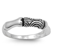 Abstract Center Ring Sterling Silver 925