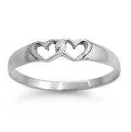 Always Connected Heart Ring Sterling Silver 925
