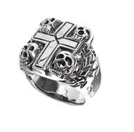 Four Horsemen of Apocalypse Skull Ring Sterling Silver 925
