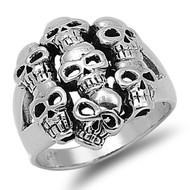 Purgatory Skull Ring Sterling Silver 925