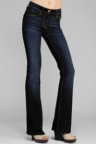 7 For All Mankind Womens Bootcut Jeans Mid Rise Original Bootcut in L'Amour Empire Blue Size 24 AP344Y997