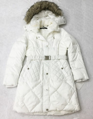 Steve Madden Single Breasted Weatherproof White Coat