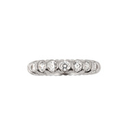 Cubic Zirconia Xo Eternity Style Band Rhodium Plated Sterling Silver Ring