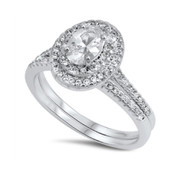 Cubic Zirconia Engagement Wedding Ring Sterling Silver 925