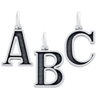 Oxidized Sterling Silver A To Z Initials Charm