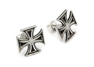 Iron Cross Stud Earrings