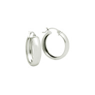 Sterling Silver Plain Hoop Earrings