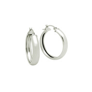 Sterling Silver Hoop Design Earrings