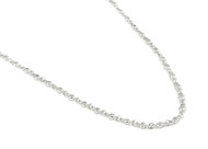 "30"" Rhodium Plated Sterling Silver Cubic Zirconia By the Yard Designer Necklace"