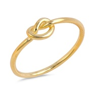 Yellow Gold- Tone Plated Infinity Knot Wire Ring Sterling Silver 925
