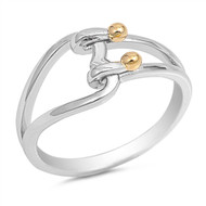Heart Lock Fashion Ring Sterling Silver 925