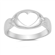 Heart Sterling Silver 925 Ring