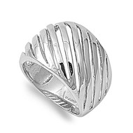 Designer Inspired Ring Rhodium Plated Brass