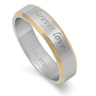 Forever Love Two Toned Ring Stainless Steel