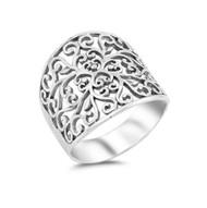 Filigree Sterling Silver 925 Ring
