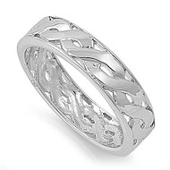 Eternity Weave Ring Rhodium Plated Brass