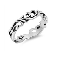 Eternal Flame Filigree Ring Sterling Silver 925