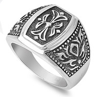 Gothic Cross Biker Ring Stainless Steel