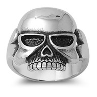 Droid Biker Skull Ring Stainless Steel
