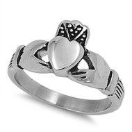 Claddagh 10MM Ring Stainless Steel