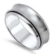 Classic Knife Edge Band Ring Stainless Steel