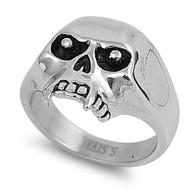 Fang Biker Skull Ring Stainless Steel