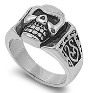 Skull Biker Ring Stainless Steel 16MM