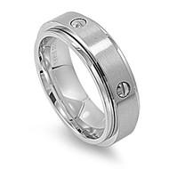 Screw Design Spinner Ring Stainless Steel