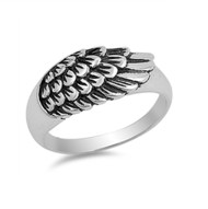 Angel Wing Style Sterling Silver 925 Ring
