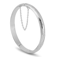 Sterling Silver Bangle Bracelet 7MM
